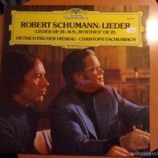 Discos de vinilo: ROBERT SCHUMANN: LIEDER. LIEDER OP. 24. AUS, MYRTHEN OP. 25. DIETRICH FISCHER-DIESKAU. CHRISTOPH ESC. Lote 56336070