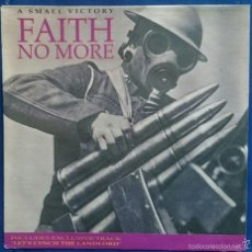 Discos de vinilo: FAITH NO MORE: A SMALL VICTORY, SINGLE 869 8224-7. SLASH RECORDS, 1992. M/EX. Lote 56337885