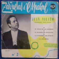 Discos de vinilo: JUAN VILATO: ZARZUELAS D´ESPAGNE 2. EP RCA 76203. VG/VG-. Lote 56338289