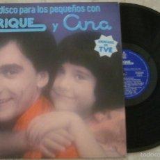 Discos de vinilo: LP EL DISCO PARA LOS PEQUEÑOS CON ENRIQUE Y ANA - ENRIQUE Y ANA - LP - HISPAVOX - 1978 -. Lote 56343188