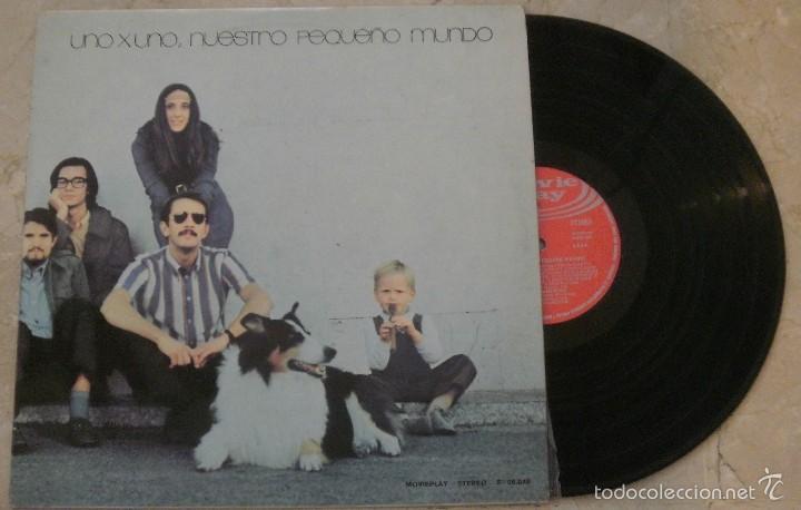 LP NUESTRO PEQUEÑO MUNDO - UNO X UNO - MOVIEPLAY - 1970 - (Música - Discos - LP Vinilo - Grupos Españoles de los 70 y 80)