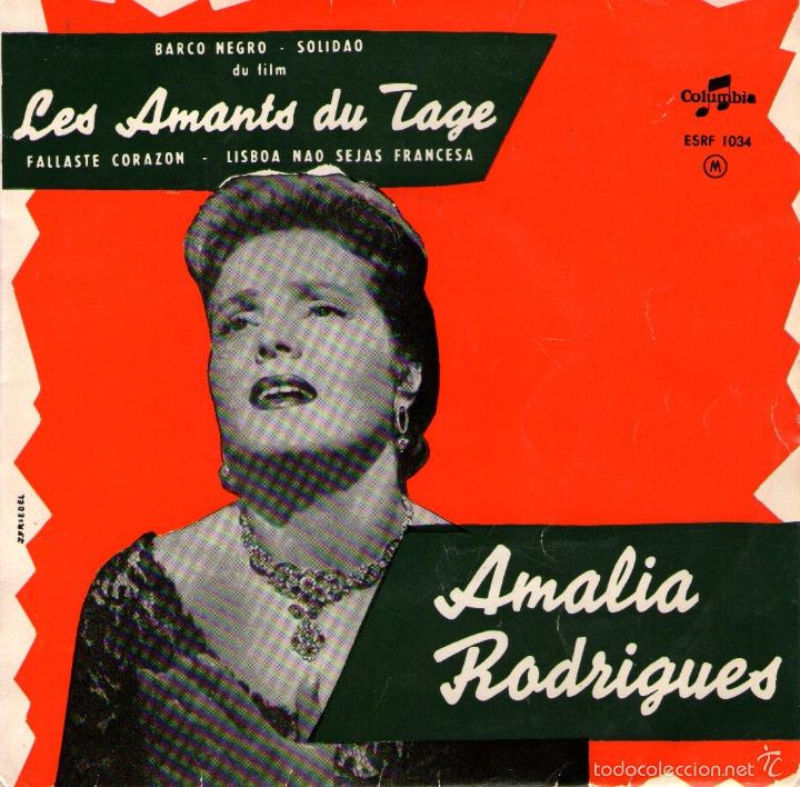 """AMALIA RODRIGUES - EP VINILO 7"""" - 4 TEMAS - EDICIÓN DE FRANCIA Y HOLANDA - COLUMBIA (Música - Discos de Vinilo - EPs - Country y Folk)"""
