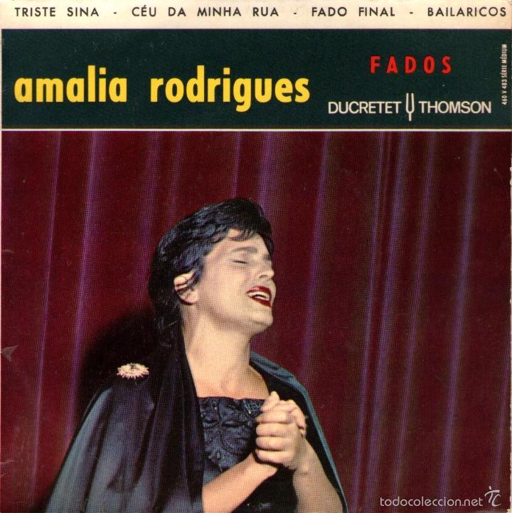 """AMALIA RODRIGUES - EP VINILO 7"""" - 4 TEMAS - EDITADO EN FRANCIA - DUCRETET THOMSOM (Música - Discos de Vinilo - EPs - Country y Folk)"""