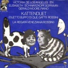 Discos de vinilo: VICTORIA DE LOS ANGELES Y ELISABETH SCHWARZKOPF - DÚO DE GATOS + LA REGATA VENECIANA - EMI HOLANDA. Lote 56348993