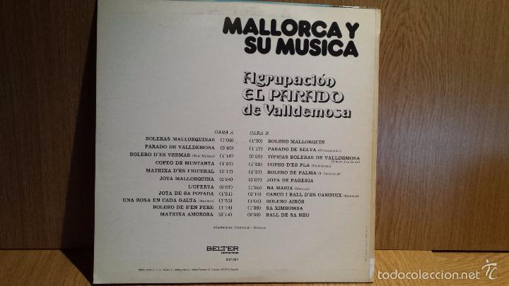 Discos de vinilo: MALLORCA Y SU MÚSICA. AGRUPACIÓN EL PARADO DE VALLDEMOSA. LP / BELTER - 1979. MBC. ***/*** - Foto 2 - 56350638