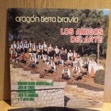 Discos de vinilo: ARAGÓN TIERRA BRAVÍA.LOS AMIGOS DEL ARTE. LP / BELTER - 1980 / MBC. ***/***. Lote 56352436