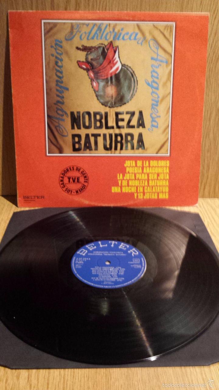 AGRUPACIÓN FOLKLÓRICA ARAGONESA NOBLEZA BATURRA. LP / BELTER - 1980. BC. ***/*** (Música - Discos - LP Vinilo - Country y Folk)