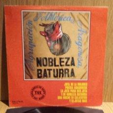 Discos de vinilo: AGRUPACIÓN FOLKLÓRICA ARAGONESA NOBLEZA BATURRA. LP / BELTER - 1980. BC. ***/***. Lote 56364668