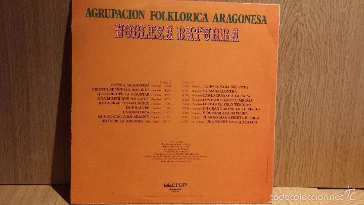 Discos de vinilo: AGRUPACIÓN FOLKLÓRICA ARAGONESA NOBLEZA BATURRA. LP / BELTER - 1980. BC. ***/*** - Foto 2 - 56364668