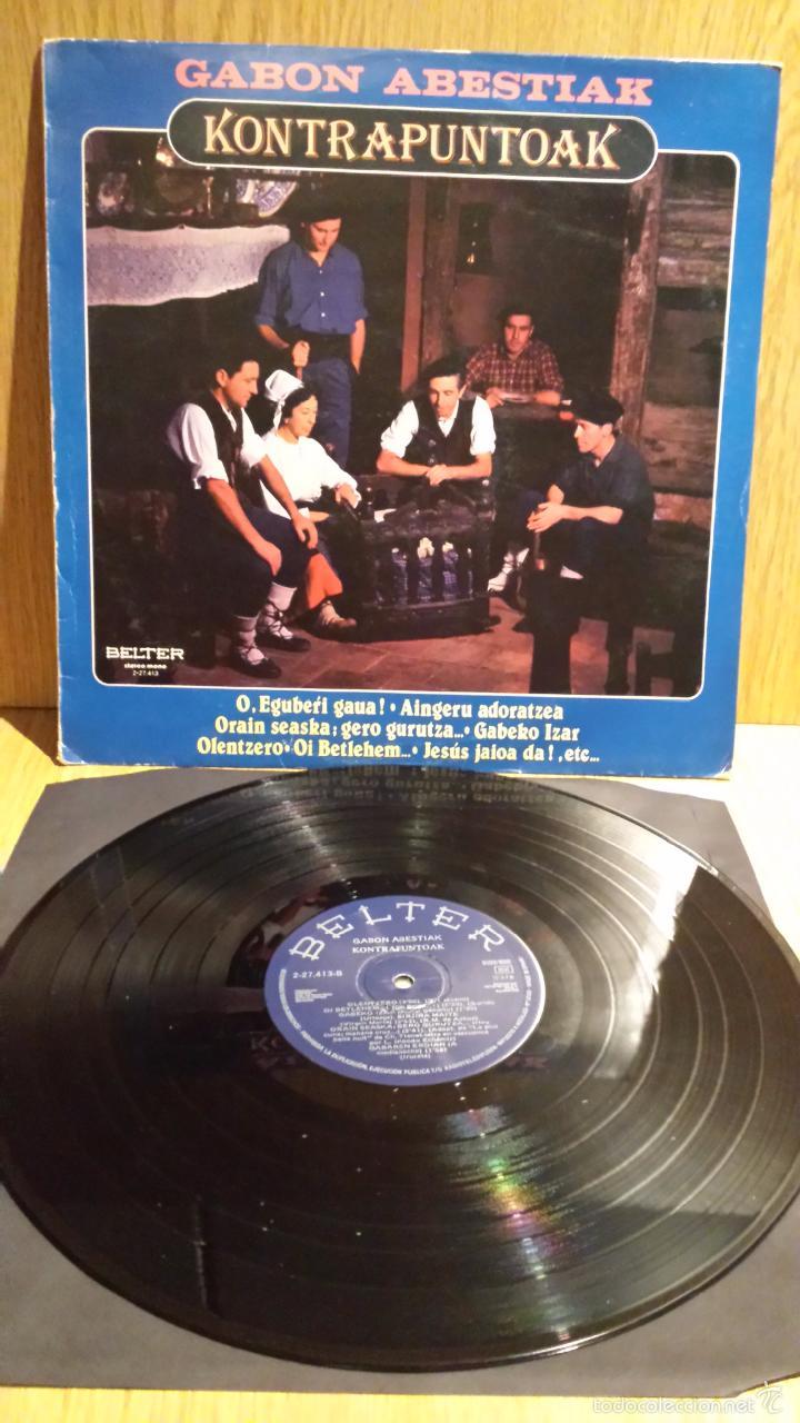 GABON ABESTIAK. KONTRAPUNTOAK. LP / BELTER - 1982 - MBC. ***/*** (Música - Discos - LP Vinilo - Country y Folk)