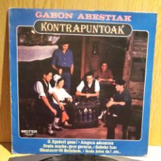 Discos de vinilo: GABON ABESTIAK. KONTRAPUNTOAK. LP / BELTER - 1982 - MBC. ***/***. Lote 56364751