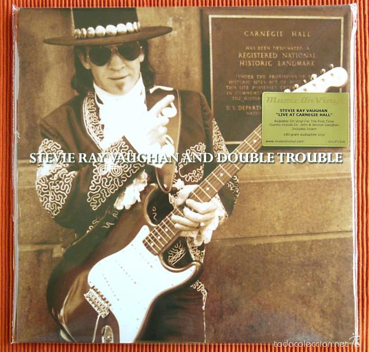 STEVIE RAY VAUGHAN - LIVE AT CARNEGIE HALL 180G 2 LP MUSIC ON VINYL PRECINTADO (Música - Discos - LP Vinilo - Jazz, Jazz-Rock, Blues y R&B)