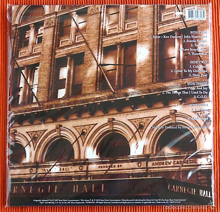 Discos de vinilo: STEVIE RAY VAUGHAN - LIVE AT CARNEGIE HALL 180g 2 LP Music On Vinyl Precintado - Foto 2 - 56369473