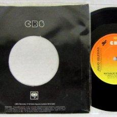 Discos de vinilo: JULIO IGLESIAS - RUM AND COCA COLA + NATHALIE - SINGLE - CBS 1982 UK - SUPER RARE - VINILO N MINT. Lote 56371535