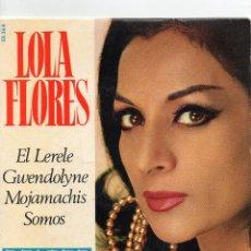 Discos de vinilo: LOLA FLORES - EL LERELE - E.P.. Lote 56375538