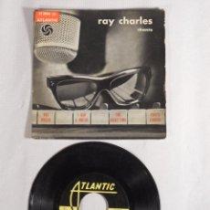 Discos de vinilo: DISCO RAY CHARLES. CHANTE. FOTO HERMAN LEONARD.. Lote 56376266
