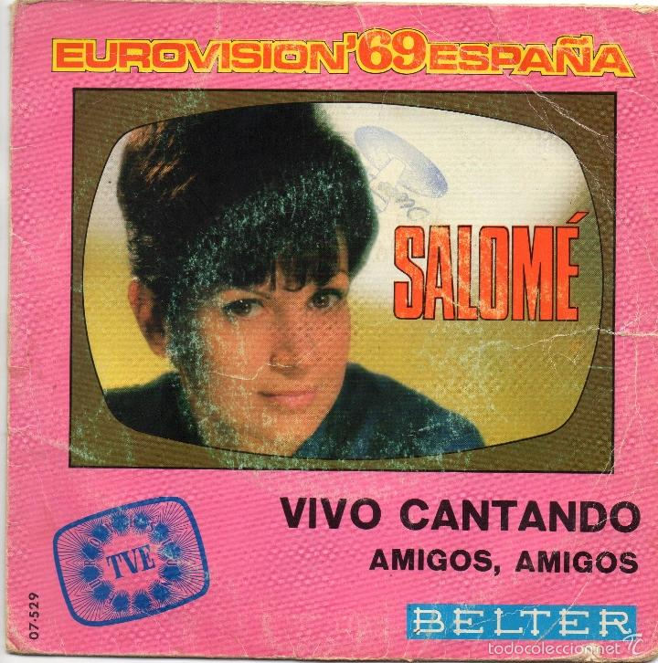 SALOME - VIVO CANTANDO - SINGLE (Música - Discos de Vinilo - Maxi Singles - Festival de Eurovisión)