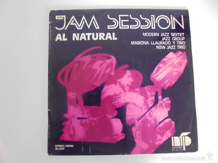 Discos de vinilo: JAM SESSION AL NATURAL. MARIONA LLAURANO Y TRIO. NURIA FELIU PRODUCCIONS 1974. VER FOTOGRAFIAS. - Foto 2 - 56376712