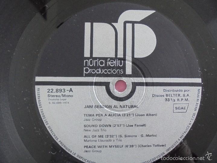 Discos de vinilo: JAM SESSION AL NATURAL. MARIONA LLAURANO Y TRIO. NURIA FELIU PRODUCCIONS 1974. VER FOTOGRAFIAS. - Foto 4 - 56376712