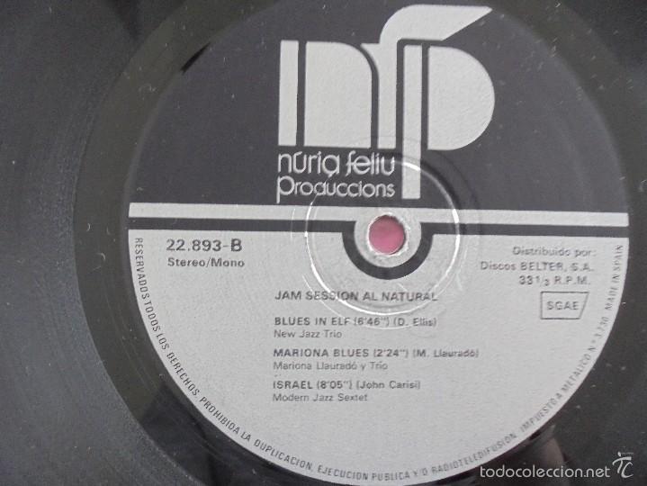 Discos de vinilo: JAM SESSION AL NATURAL. MARIONA LLAURANO Y TRIO. NURIA FELIU PRODUCCIONS 1974. VER FOTOGRAFIAS. - Foto 6 - 56376712