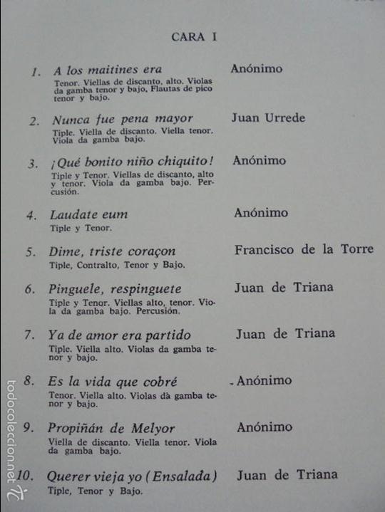 Discos de vinilo: MONUMENTOS HISTORICOS DE LA MUSICA ESPAÑOLA. 3 EJEMPLARES. VER FOTOGRAFIAS ADJUNTAS. - Foto 6 - 56377271