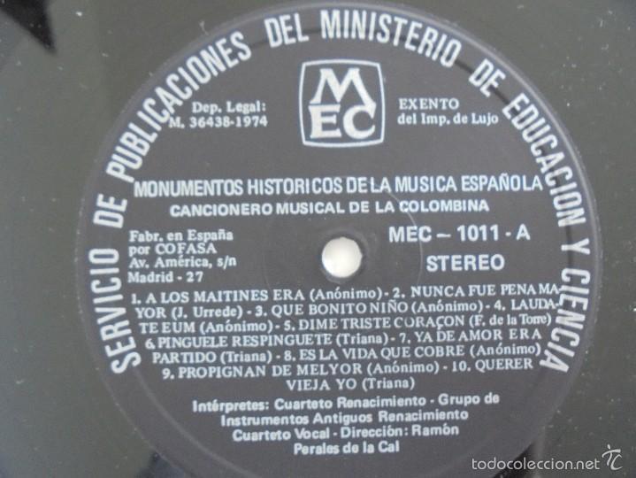 Discos de vinilo: MONUMENTOS HISTORICOS DE LA MUSICA ESPAÑOLA. 3 EJEMPLARES. VER FOTOGRAFIAS ADJUNTAS. - Foto 8 - 56377271