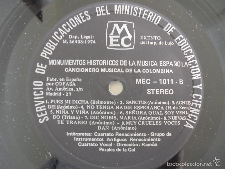 Discos de vinilo: MONUMENTOS HISTORICOS DE LA MUSICA ESPAÑOLA. 3 EJEMPLARES. VER FOTOGRAFIAS ADJUNTAS. - Foto 10 - 56377271