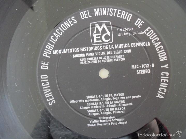 Discos de vinilo: MONUMENTOS HISTORICOS DE LA MUSICA ESPAÑOLA. 3 EJEMPLARES. VER FOTOGRAFIAS ADJUNTAS. - Foto 29 - 56377271