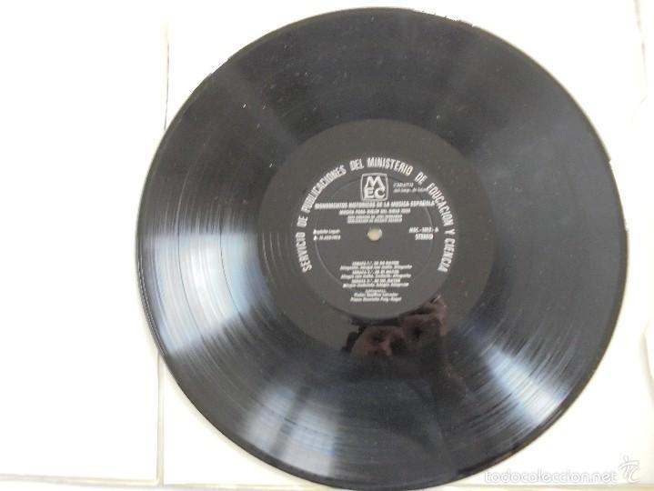 Discos de vinilo: MONUMENTOS HISTORICOS DE LA MUSICA ESPAÑOLA. 3 EJEMPLARES. VER FOTOGRAFIAS ADJUNTAS. - Foto 30 - 56377271