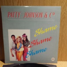 Discos de vinilo: PATTY JOHNSON & CO. SHAME. MAXI SINGLE / METROPOL-SPAIN - 1987. MBC. ***/***. Lote 56379871