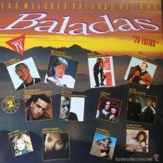 Discos de vinilo: LAS MEJORES BALADAS DEL AÑO . DOBLE LP . 1991 HISPAVOX. Lote 69069253