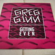 Discos de vinilo: GREG GINN LP GETTING EVEN CRUZ RECORDS ORIGINAL USA 1993. Lote 56390995