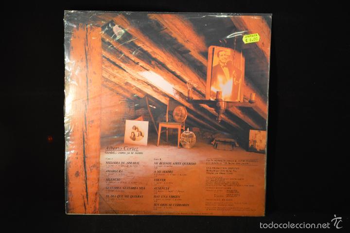 Discos de vinilo: ALBERTO CORTEZ - GARDEL... COMO YO TE SIENTO - LP - Foto 2 - 164516852