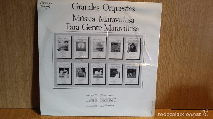 Discos de vinilo: MÚSICA MARAVILLOSA PARA GENTE MARAVILLOSA. VOL. 3. LP / OLYMPO / SIN DESPRECINTAR. - Foto 2 - 56395724