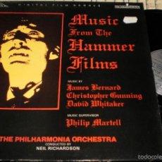 Discos de vinilo: MUSIC FROM THE HAMMER FILMS LP.CARPETA DOBLE.INGLATERRA 1989. Lote 56400872