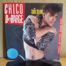 Discos de vinilo: CHICO DEBARGE. TALK TO ME. MAXI SINGLE / MOTOWN . 1987 / CALIDAD LUJO. ****/****. Lote 56423598
