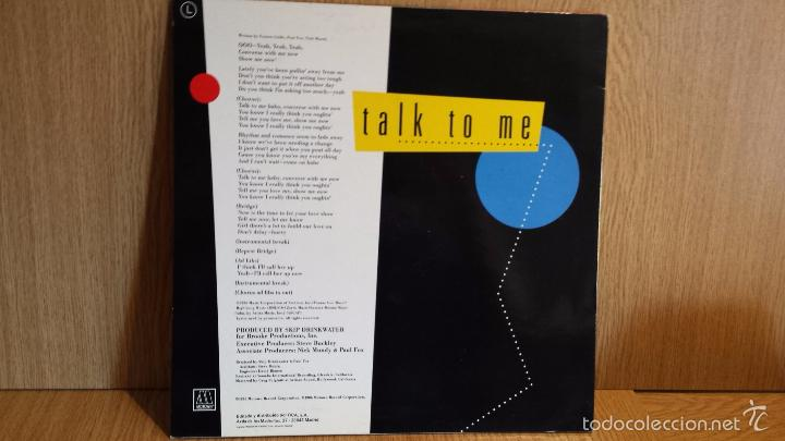 Discos de vinilo: CHICO DEBARGE. TALK TO ME. MAXI SINGLE / MOTOWN . 1987 / CALIDAD LUJO. ****/**** - Foto 2 - 56423598