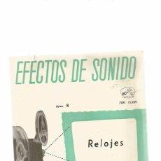 Discos de vinilo: EFECTOS DE SONIDO RELOJES. Lote 56437513