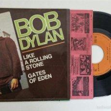 Discos de vinilo: BOB DYLAN -LIKE A ROLLING STONE/GATES OF HEAVEN- 1965 - VINILO 45RPM. Lote 56461052