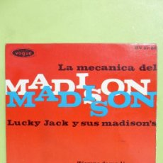 Discos de vinilo: LUCKY JACK Y SUS MADISONS: LA MECÁNICA DEL MADISON, EP 45 RPM, VOGUE 1962. Lote 56461973