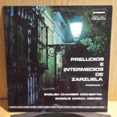 Disques de vinyle: PRELUDIOS E INTERMEDIOS DE ZARZUELA.PARTE II LP-GATEFOLD / ZAMBRA-BELTER / CALIDAD LUJO. ****/****. Lote 56462935