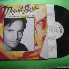 Discos de vinilo: MIGUEL BOSE - DE BANDIDO A DUENDE - LP - WEA 1988 - LETRAS NUEVO¡¡¡ PEPETO. Lote 56466555
