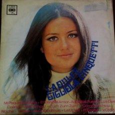 Discos de vinilo: LP ARGENTINO DE GIGLIOLA CINQUETTI CANTADO EN ITALIANO AÑO 1969. Lote 56468709