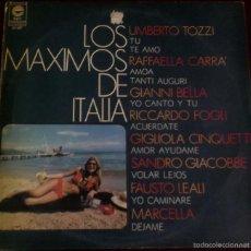 Discos de vinilo: LP ARGENTINO DE ARTISTAS VARIOS LOS MÁXIMOS DE ITALIA AÑO 1978. Lote 56468956