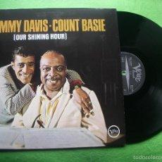 Discos de vinilo: DAVIS, SAMMY/BASIE, COUNT - OUR SHINING HOUR - LP VERNE 837 446 MADE HOLANDA NUEVO ¡¡¡ PEPETO. Lote 56472824