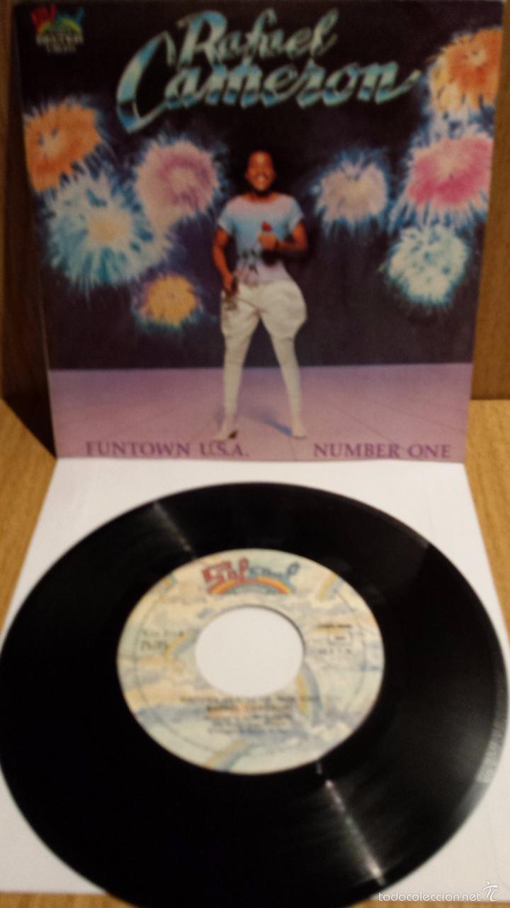 RAFAEL CAMERON. FUNTOWN U.S.A. SINGLE / SALSOUL RECORDS - 1981 / CALIDAD LUJO. ****/**** (Música - Discos - Singles Vinilo - Funk, Soul y Black Music)