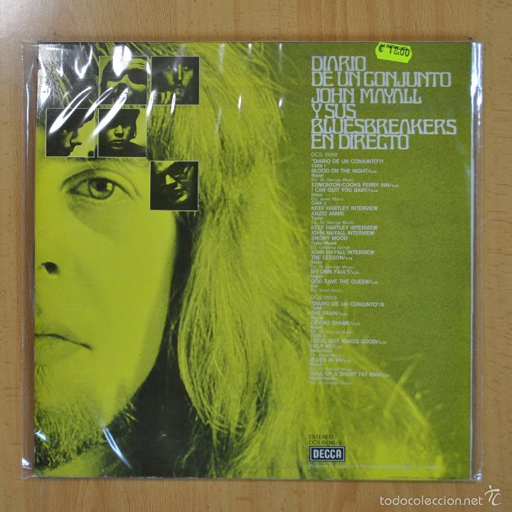 Discos de vinilo: JON MAYALL / BLUES BREAKERS - DIARIO DE UN CONJUNTO - LP - Foto 2 - 56485030