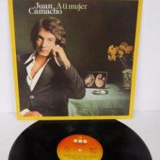 Vinyl-Schallplatten - JUAN CAMACHO - A TI MUJER - LP - CBS 1982 SPAIN - 58164857