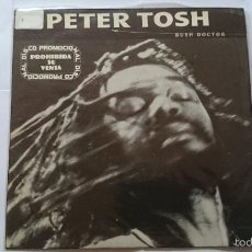 Discos de vinilo: PETER TOSH - BUSH DOCTOR (LIVE) (PROMO 1984). Lote 56489751