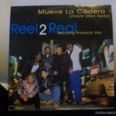 Discos de vinilo: REEL 2 REAL FEATURING PROYECTO UNO ?– MUEVE LA CADERA MAXI SINGLE. Lote 122280610